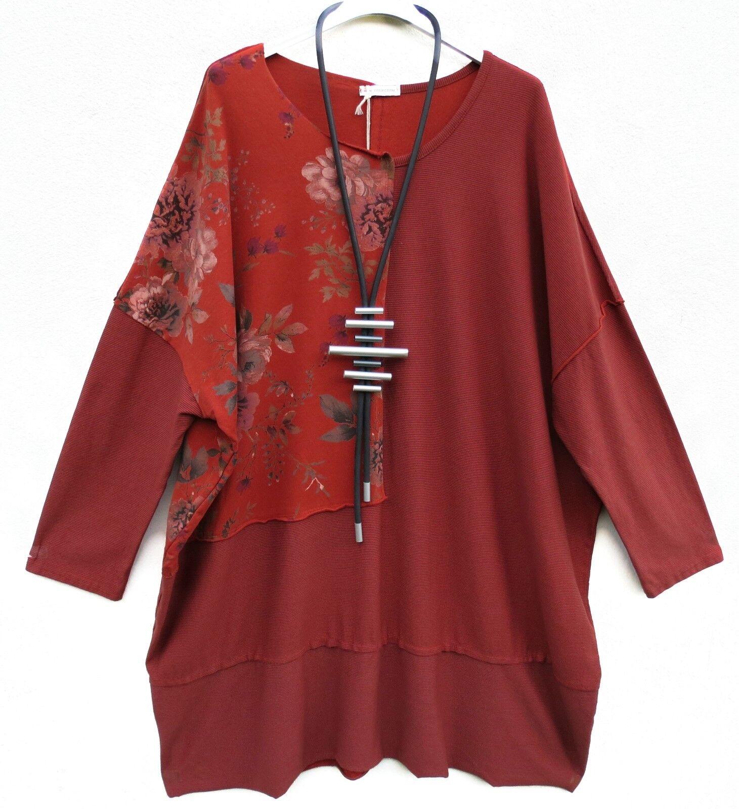 New Collection Kleid lange Tunika Dress Robe Vestido XXXL 56 Lagenlook