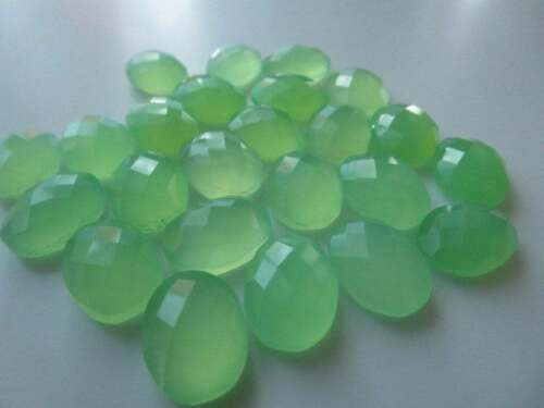 Details about  /Finest Lot Natural Prehnite Chalcedony 6X8 mm Oval Rose Cut Loose Gemstone