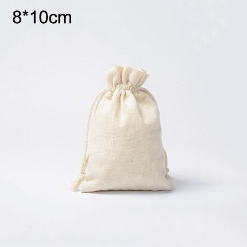 20 X Baumwolle Kordelzugbeutel Baumwollbeutel Stoffsack Aufbewahrungstasche Etui