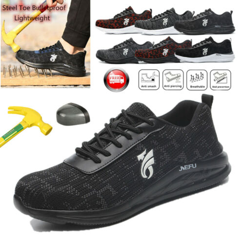 Men/'s Safety Waterproof Work Shoes Steel Toe Ankle Boots Indestructible Sneakers