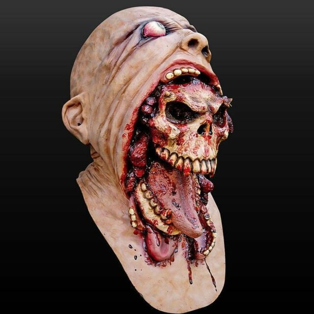 Bloody Zombie Mask Melting Face Adult Latex Costume Walking Dead Scary 2018