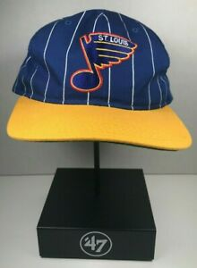 Vintage-St-Louis-Blues-Starter-Pinstripe-snapback-hat-cap-NHL-streetwear-Cup