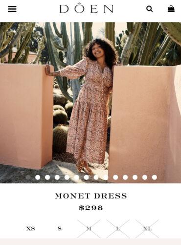 Doen Monet Dress Cottagecore Prairie Xl