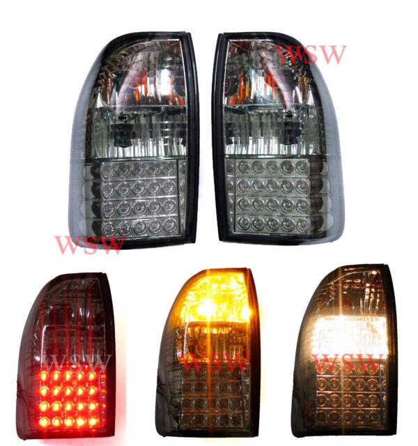 Fit 1995 - 2005 Mitsubishi Triton MK L200 Led Tail Lamp Light Strada Smoke Led