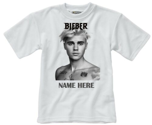 JUSTIN BEIBER #1 PERSONALISED CHILDS T-SHIRT