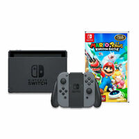 Nintendo Switch 32GB Console with Gray Joy-Con + Mario + Rabbids Kingdom Battle
