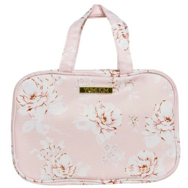 New Yumi Kim Hanging Train Case Makeup Bag Pink Floral