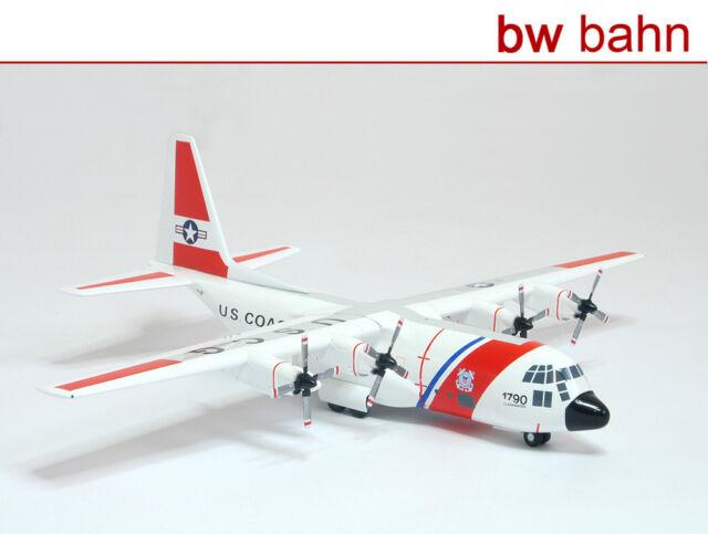 Herpa 1:200 551977 Lockheed HC-130 Hercules 1716 US Coast Guard Metallmodell Neu