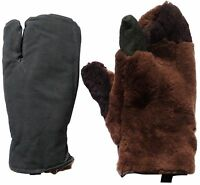 Russian Sheepskin Lambskin Fur Winter Mittens. Lobster Claw. Made In Ussr. Warm