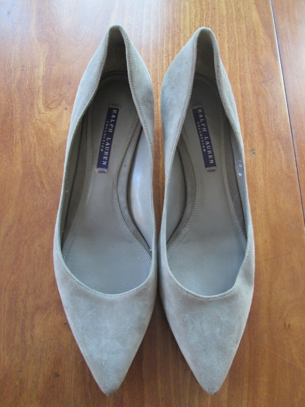 Ralph Lauren Collection Grey Suede Pumps Size 10B GUC Made in