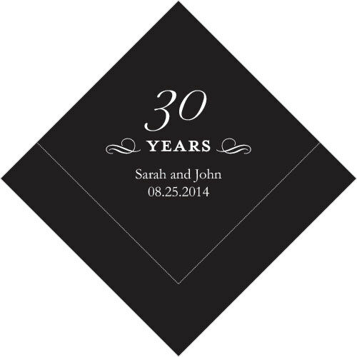 500 Printed 30th Anniversary Birthday Luncheon Napkins