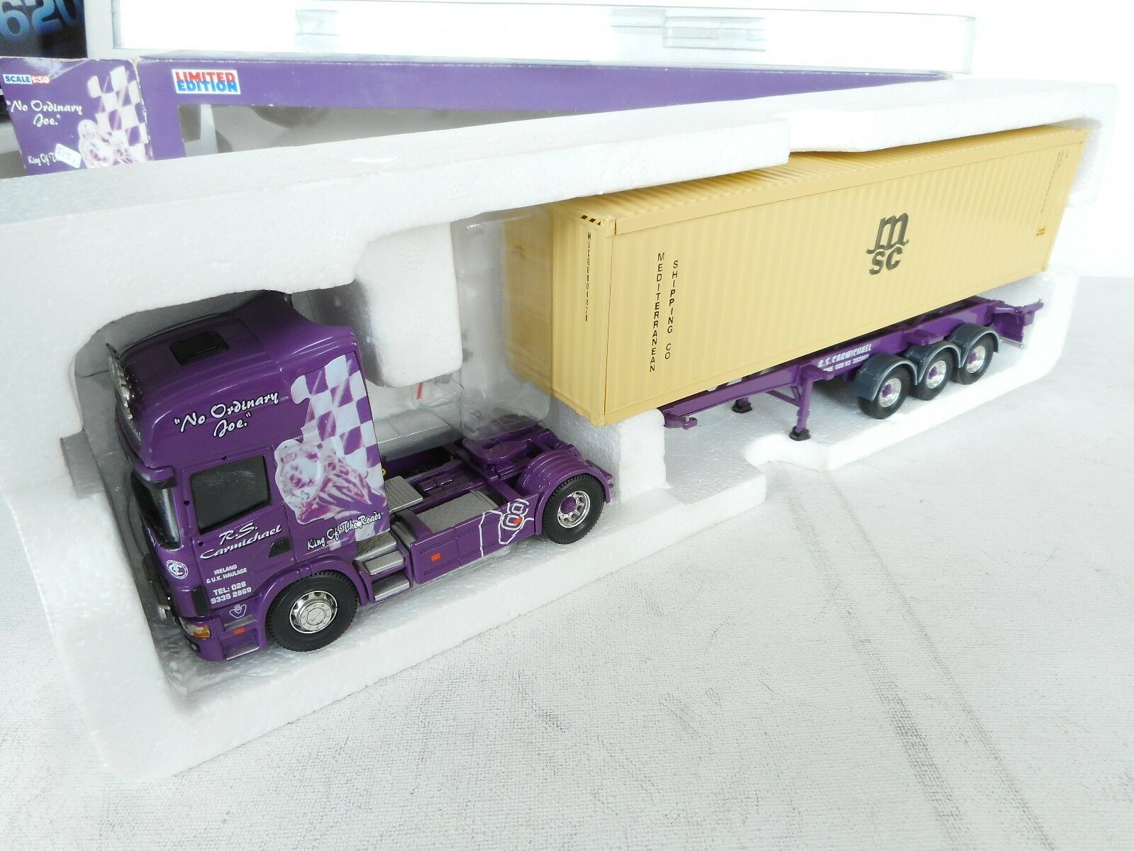 1 50  CORGI TOY RS COMMERCIAL SCOTLAND SCANIA 580  WITH MSC CONTAINER M BOX