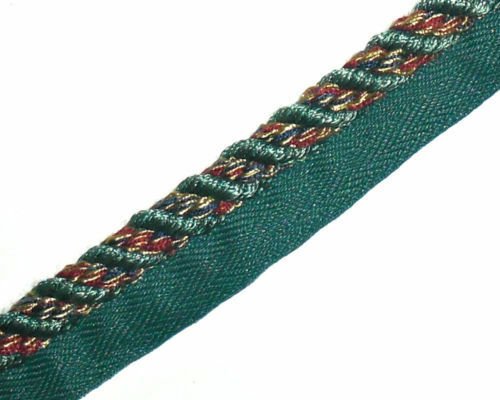 ASSORTED COLS ART 8615 060 FREE P/&P X2 MTRS FLANGED BINDING//PIPING 10MM CORD