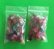 200 Mixed Flower Frosted Acrylic Beads 10x4mm Jewelrys Finding  Spacer Charm