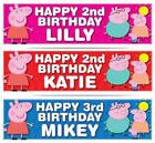 2 x PERSONALISED PEPPA PIG BIRTHDAY BANNER 3ft - 36