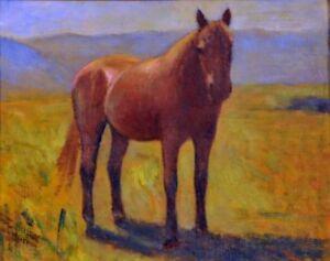 Giovanni-Malesci-Cavallo-olio-su-tela-34x27-cm-1940