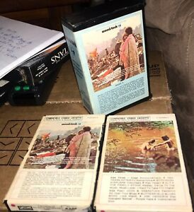 MUST-SEE-Woodstock-Original-Soundtrack-2-Cassette-Tapes-w-Book-Cover-Enclosure