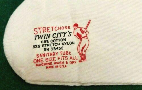 Nouveau vintage Twin City/'s stretchose hautes Baseball Chaussettes Blanc 2 Paire