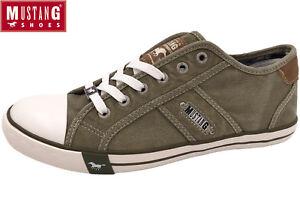 Details zu MUSTANG Herren Canvas Sneaker Khaki Oliv Grün Halbschuhe Schuhe 4058 305 777