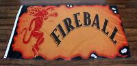 Fireball Cinnamon Whisky Flag Banner Red Devil Logo Sign Whiskey Bar Liquor