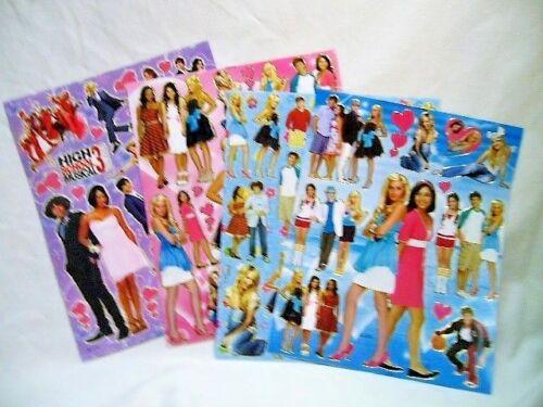 450 High School Musical 4 X A4 hojas de brillante hoja de pegatinas Bolsas De Fiesta Stocki