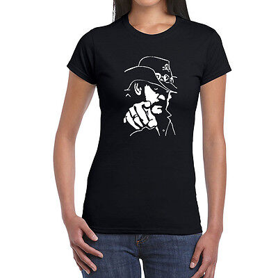 Pins /& Bones Motorhead Women/'s Mother Lemmy Inspired Rock Shirt Black Metal Tee