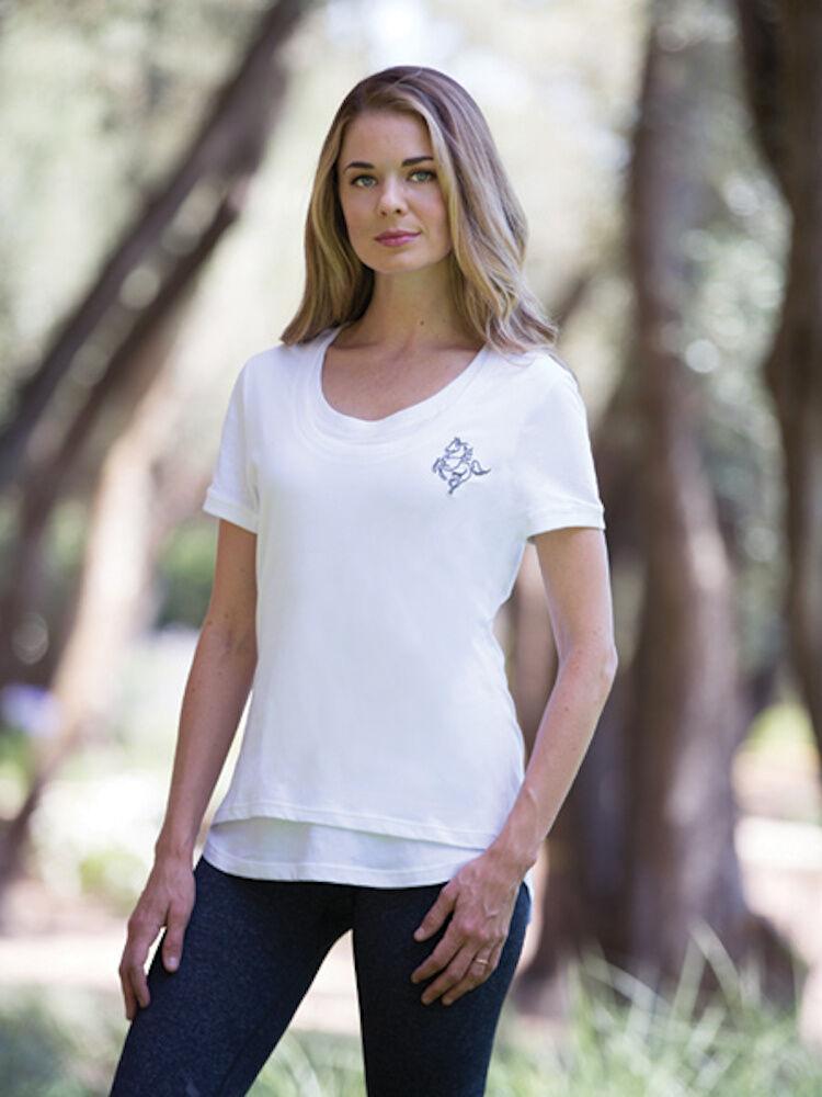Goode Rider Layered Tee Shirt-White-L