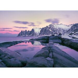 Sonderanfertigung Papier Fototapete Winter Fjord Ebay