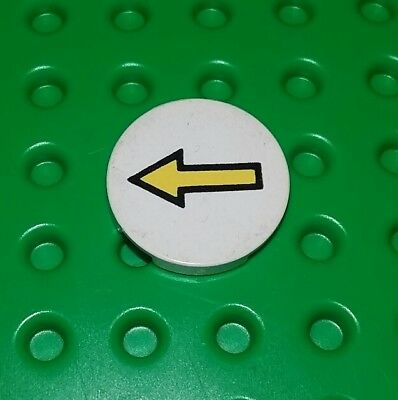 Lego Classic White 2x2 Round Flat Tile Yellow Arrow Plate Space Brick x 1 piece