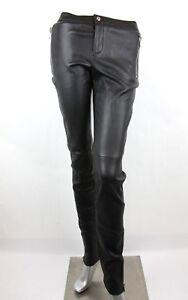 Gucci Mujer Cuero Negro Elastico Pantalones Leggings 356036 1000 Ebay