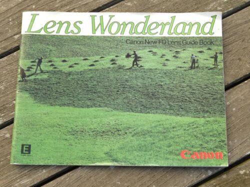 Original not a copy FD Lens Guide CANON Lens Wonderland