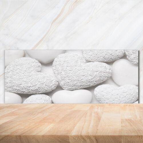 Küchenrückwand Spritzschutz aus Glas 125x50 Deko Sonstige Herzen