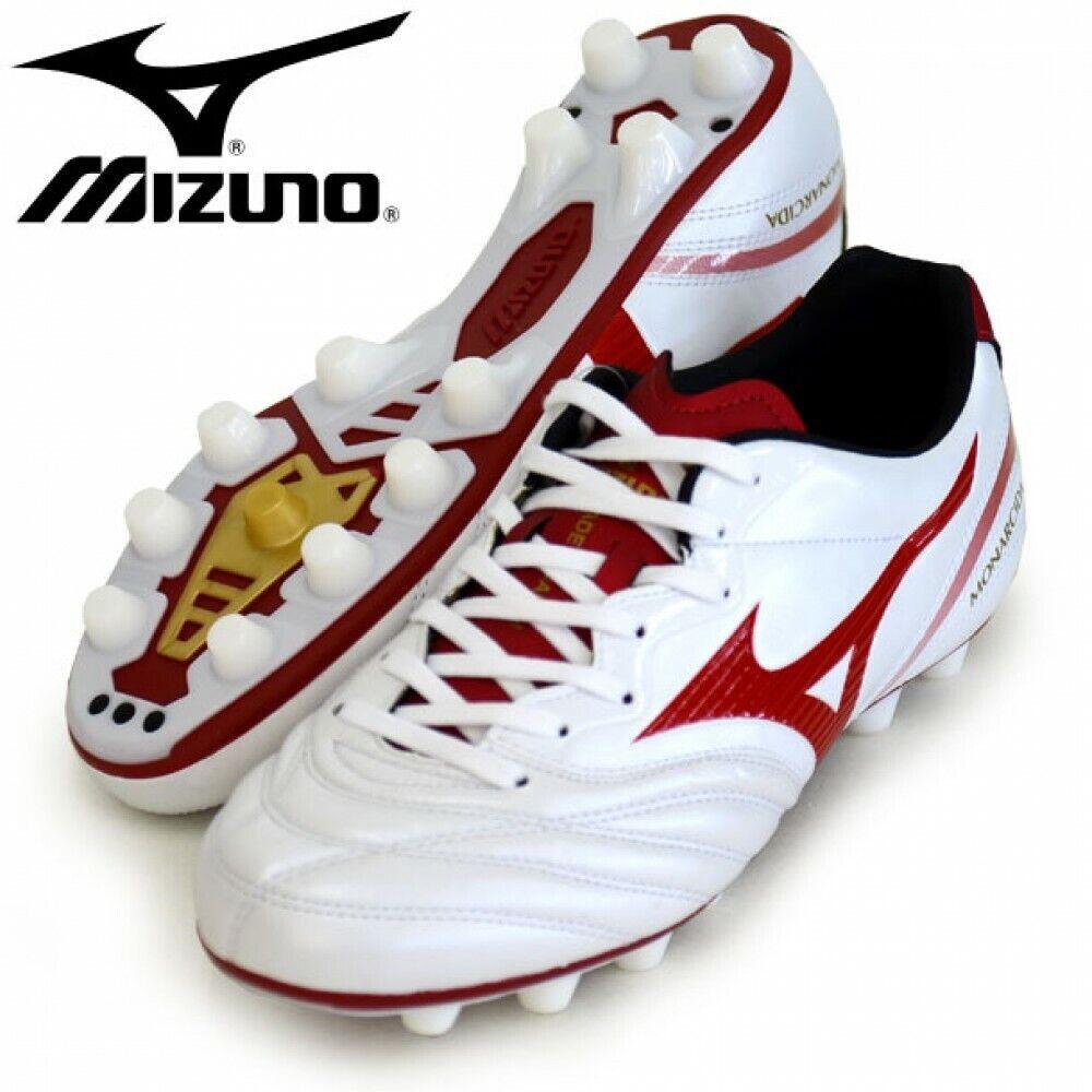 Mizuno Fútbol Fútbol Spike monarcida 2 Japón P1GA1721 blancoo Rojo Con Seguimiento