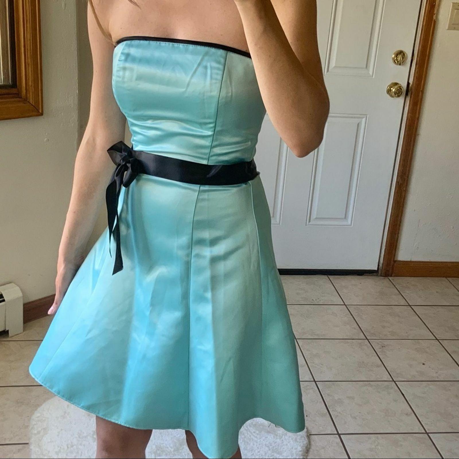 Vtg Jessica McClintock Gunne Sax Blue Formal Dres… - image 5