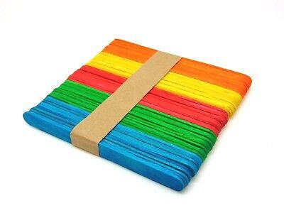 Colour Wooden Lollipop sticks lollypop stick lolly stick Kids Craft Model Making