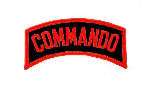 Aufnäher Aufbügler Applikation backpack motorrad biker commando army militaria
