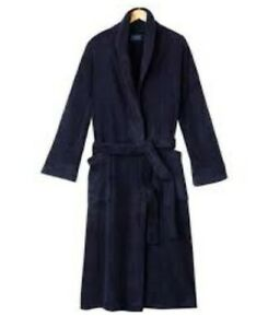 Croft /& Barrow Plush Navy Stripe Robe ~ Size Small//Medium ~ New With Tags