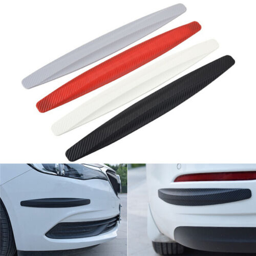 1 pair Car Bumper Carbon Fibre Protector Corner Guard Rubber Sticker GN