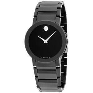Movado Sapphire Quartz Movement Black Dial Men's Watch 0606307