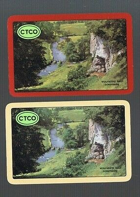 Swap Playing Cards 1 WIDE VINT  U.K  LADY RIDING  HER  BICYCLE  REVERSIBLE  8BIC