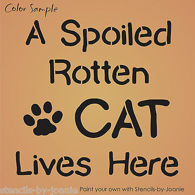 Pet Stencil Paws Enjoy Good Things Life Dog Cat Track Print Kennel Home Art Sign