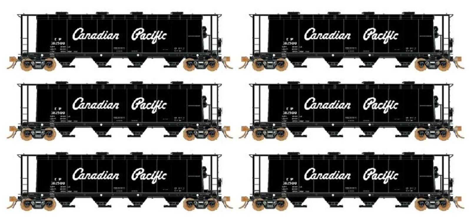 Rapido 3800 CU FT Covered Hopper Canadian Pacific CPR Delivery Car Set -HO
