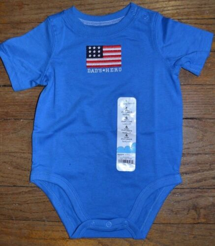 Jumping Beans Happy 4th of July Outfit or Dad/'s Hero Outfit USA Flags on Shorts