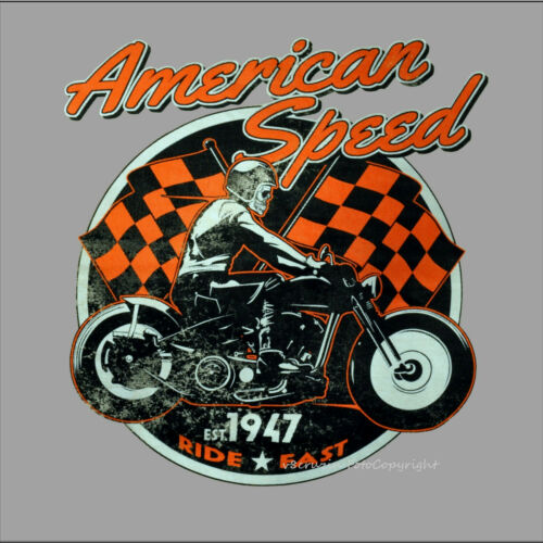 Biker vintage motorrad Oldtimer Bike classic Motorbike Racer  T-Shirt *4098 bl