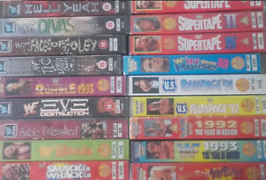 WWF-VHS-Tapes-WrestleMania-Rumble-In-Your-House-amp-More-Original-ENG-WWE