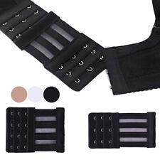Women Bra Extender 3 Rows 3//4 Hook Corset Extension Strap Elastic Bra Buckle S//L