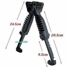 Tactical Foldable Foregrip Bipod Picatinny Rail Quick Release Mount for Rifle A