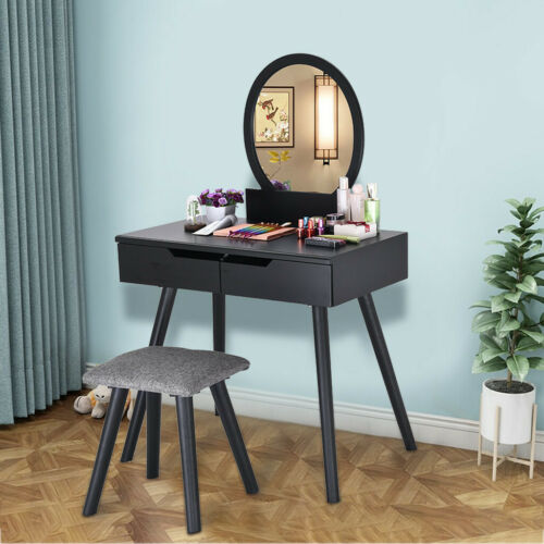 Dressing Table Makeup Desk with Stool and Mirror Bedroom Furniture
