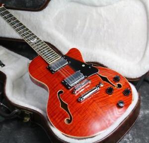 top quality 12 strings semi hollow body lp electric guitar flamde maple top 6651582085486 ebay. Black Bedroom Furniture Sets. Home Design Ideas