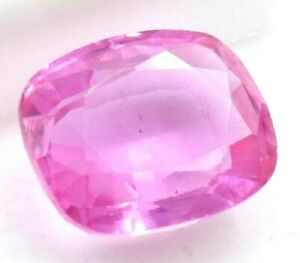 12.00 Ct Natural Pink Sapphire Cushion Cut AGSL Certified Loose Gemstone